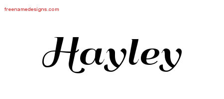 art deco name tattoo designs hayley printable free name designs. Black Bedroom Furniture Sets. Home Design Ideas