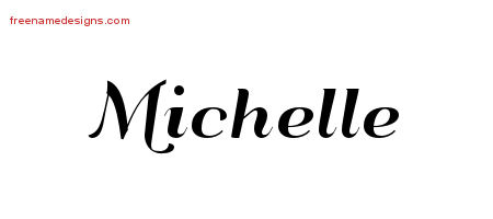 art deco name tattoo designs michelle printable free name designs. Black Bedroom Furniture Sets. Home Design Ideas
