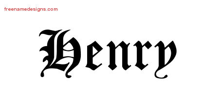 Blackletter Name Tattoo Designs Henry Graphic Download ...