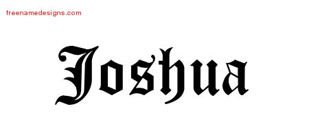 Blackletter Name Tattoo Designs Joshua Graphic Download Free