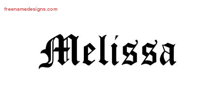 melissa name graphics | Melissa Meikle | Tattoo designs ...