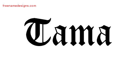 Blackletter Name Tattoo Designs Tama Graphic Download ...