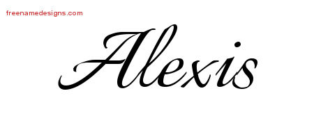 Alexis Calligraphic Name Tattoo Designs