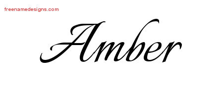 Calligraphic Name Tattoo Designs Amber Download Free