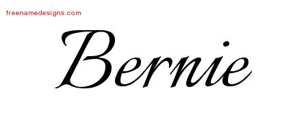 Bernie Calligraphic Name Tattoo Designs