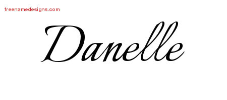 Danelle Calligraphic Name Tattoo Designs