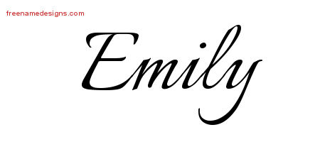 Calligraphic Name Tattoo Designs Emily Download Free ...