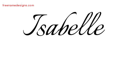 Calligraphic Name Tattoo Designs Isabelle Download Free