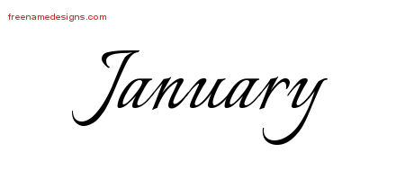 Calligraphic Name Tattoo Designs January Download Free ...
