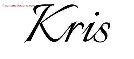 Kris Calligraphic Name Tattoo Designs