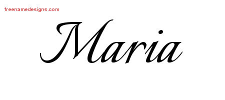 calligraphic name tattoo designs maria download free free name designs. Black Bedroom Furniture Sets. Home Design Ideas