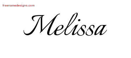 calligraphic name tattoo designs melissa download free free name designs. Black Bedroom Furniture Sets. Home Design Ideas