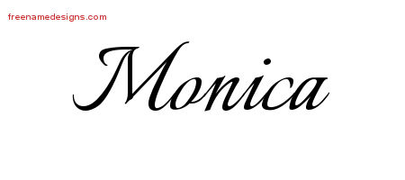 Calligraphic Name Tattoo Designs Monica Download Free