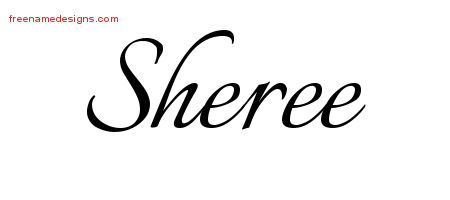Sheree Calligraphic Name Tattoo Designs