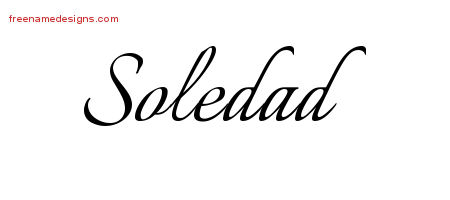 Soledad Calligraphic Name Tattoo Designs
