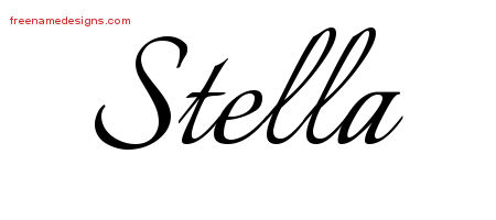 Calligraphic Name Tattoo Designs Stella Download Free