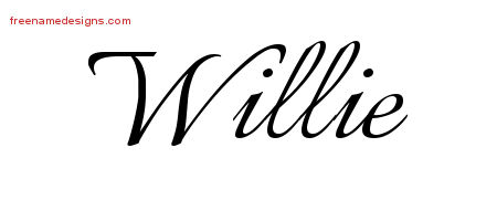 Willie Calligraphic Name Tattoo Designs