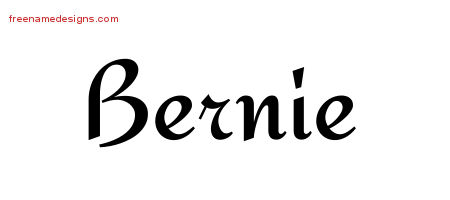 Bernie Calligraphic Stylish Name Tattoo Designs
