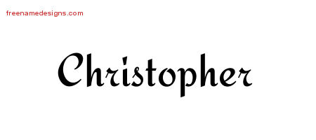 Christopher Calligraphic Stylish Name Tattoo Designs