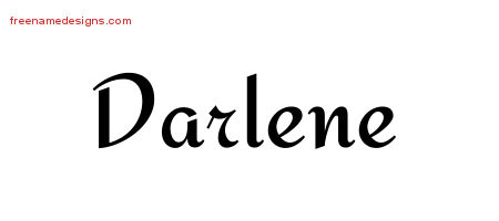 Darlene Calligraphic Stylish Name Tattoo Designs
