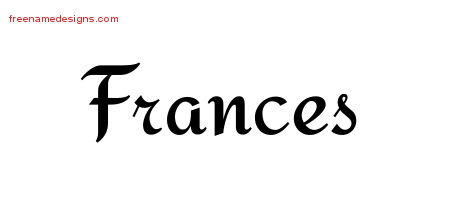 Calligraphic Stylish Name Tattoo Designs Frances Download ...