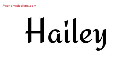 calligraphic stylish name tattoo designs hailey download free free name designs. Black Bedroom Furniture Sets. Home Design Ideas
