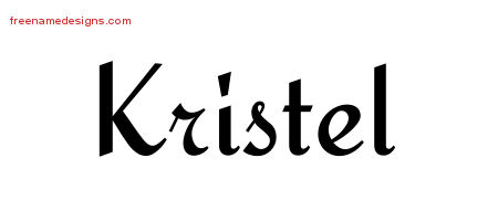 Kristel Calligraphic Stylish Name Tattoo Designs