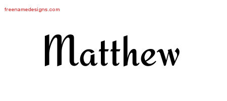 calligraphic stylish name tattoo designs matthew download free free name designs. Black Bedroom Furniture Sets. Home Design Ideas