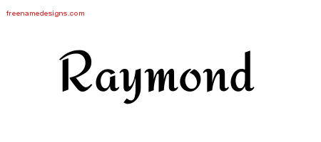 Raymond Calligraphic Stylish Name Tattoo Designs