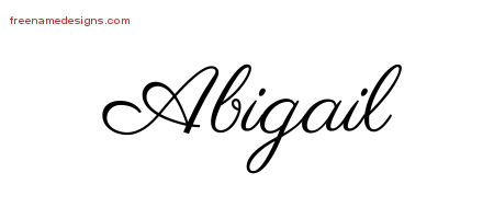Classic Name Tattoo Designs Abigail Graphic Download Free Name Designs