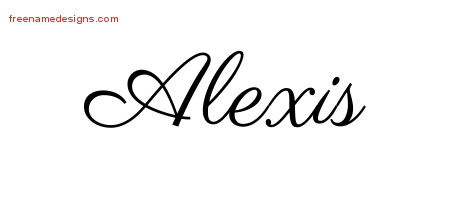 Alexis Classic Name Tattoo Designs
