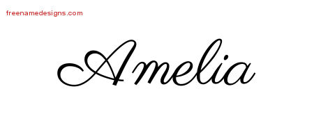 classic name tattoo designs amelia graphic download free name designs. Black Bedroom Furniture Sets. Home Design Ideas