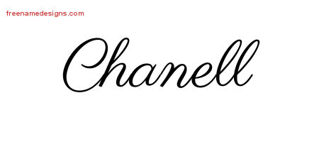 Chanell Classic Name Tattoo Designs