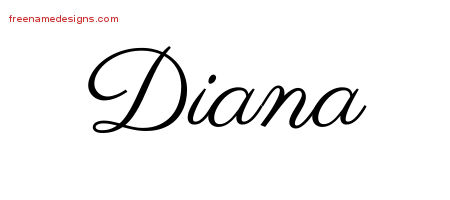 classic name tattoo designs diana graphic download free name designs. Black Bedroom Furniture Sets. Home Design Ideas