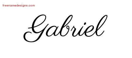 Gabriel Classic Name Tattoo Designs