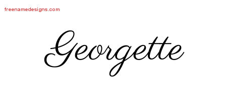 Classic Name Tattoo Designs Georgette Graphic Download ...