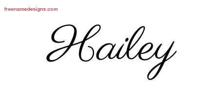 classic name tattoo designs hailey graphic download free name designs. Black Bedroom Furniture Sets. Home Design Ideas