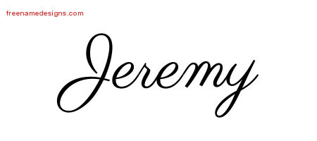Classic Name Tattoo Designs Jeremy Graphic Download Free