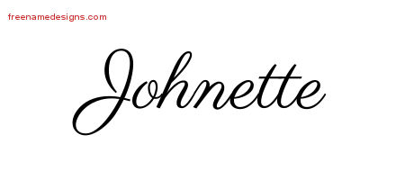 Johnette Classic Name Tattoo Designs