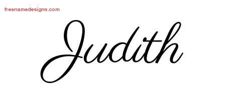 Judith Classic Name Tattoo Designs