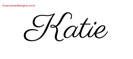 Classic Name Tattoo Designs Katie Graphic Download Free