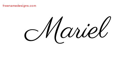 classic name tattoo designs mariel graphic download free name designs. Black Bedroom Furniture Sets. Home Design Ideas