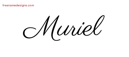 Muriel Classic Name Tattoo Designs