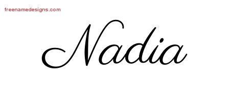 classic name tattoo designs nadia graphic download free name designs. Black Bedroom Furniture Sets. Home Design Ideas