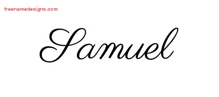 Classic Name Tattoo Designs Samuel Graphic Download - Free ...