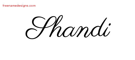 Shandi Classic Name Tattoo Designs