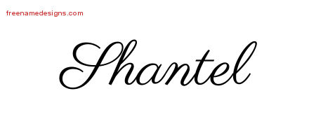 Shantel Classic Name Tattoo Designs