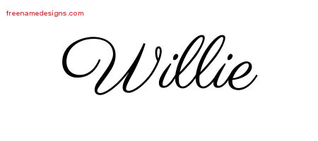 Willie Classic Name Tattoo Designs