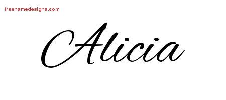 cursive name tattoo designs alicia download free free name designs. Black Bedroom Furniture Sets. Home Design Ideas