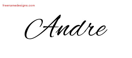 Cursive Name Tattoo Designs Andre Download Free